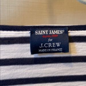 Saint James for Jcrew navy and white long sleeve